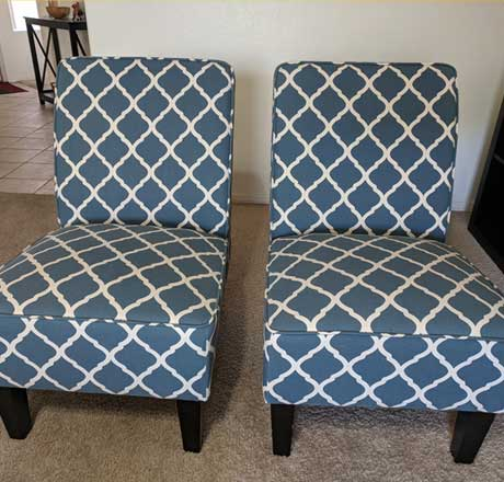 Armless Accent Chairs For Sale