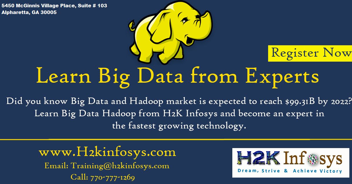 Big Data  Online Training Classes by H2kinfosys