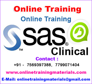 SAS Clinical Online Training in india