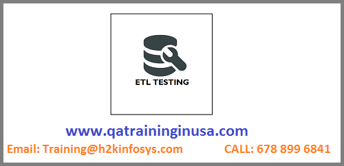 ETL Testing Online Training With Live Project