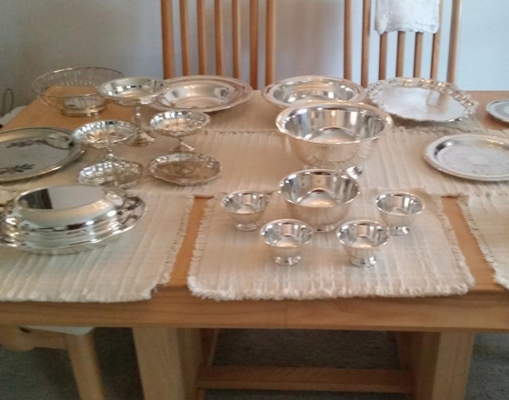 Silver Plate. Serving bowls and Trays