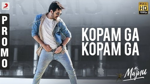 Mr. Majnu Movie Kopam Ga Song Promo