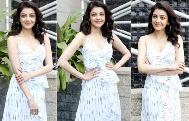 Kajal Aggarwal At MLA Movie Promotions
