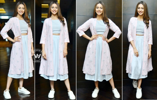 Rakul Preet Singh At Dev Movie Promotions