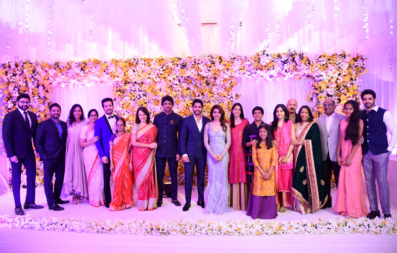 chaitanya-samantha-01 | Chaitanya And Samantha's Wedding Reception Stills | Rakul Preet | Photo 1of 20