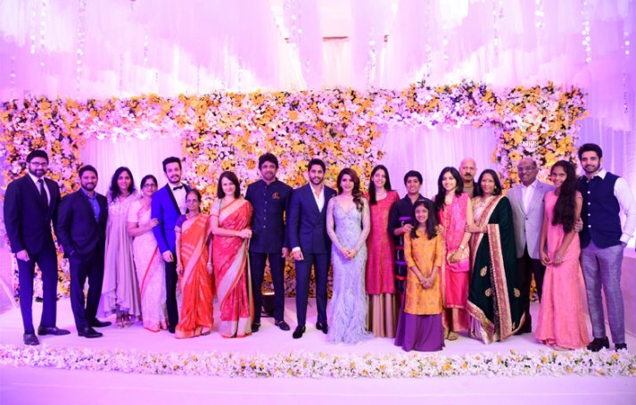 Chaitanya And Samantha's Wedding Reception Stills