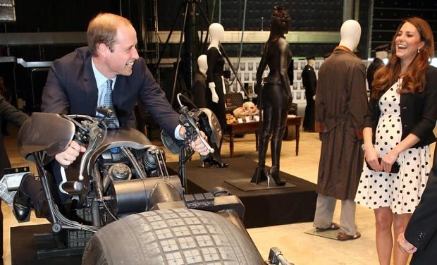 In Pictures William Kate And Harry Spend Magic Day A Warner Brothers Studios