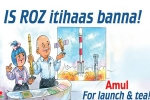 Amul celebrates ISRO's success in its own way