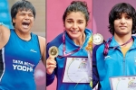 Divya Kakran, Pinki and Sarita Mor strike Gold in Asian Wrestling Championships
