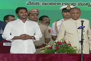 YS Jaganmohan Reddy Takes Oath as Andhra Pradesh Chief Minister