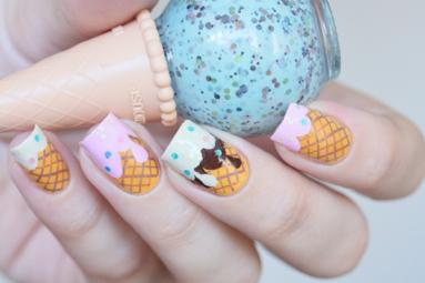 Interesting! Ice cream nails
