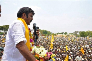 TDP MLA Nandamuri Balakrishna Once Again Loses Cool, Chases and Assaults His Own Party Worker at Rally
