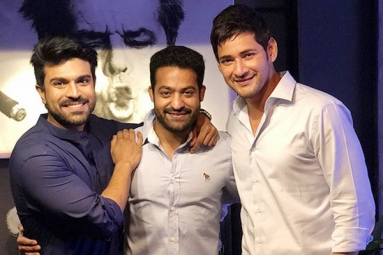 Charan and Tarak Parties with Mahesh Babu
