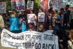 Protests held in the National Capital Against Trump's India Visit