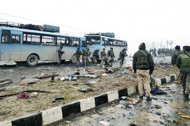 Pulwama Terror Attack: Terrorists Used 350 Kgs of Explosives, Suicide Bomber