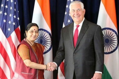 Sushma Swaraj Met US Secretary of State Rex and discussed about H1B Visa policy