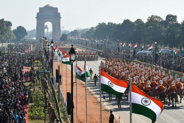 Republic Day of India - commemorating the 70th year of Indian Constitution